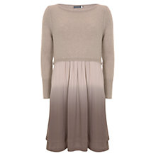 Buy Mint Velvet Knitted Double Layer Dress, Brown Online at johnlewis.com