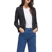 Buy Whistles Stripe Jersey Jacket, Navy Online at johnlewis.com