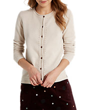 Buy White Stuff Empress Crew Neck Cardigan, Natural Online at johnlewis.com