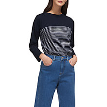 Buy Whistles Breton Long Sleeve T-Shirt, Navy Online at johnlewis.com
