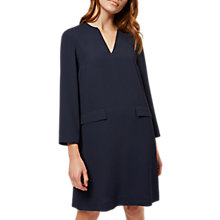 Buy Jaeger Shift Crepe Dress, Navy Online at johnlewis.com