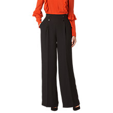 Buy L.K.Bennett Ollie Trousers, Black Online at johnlewis.com