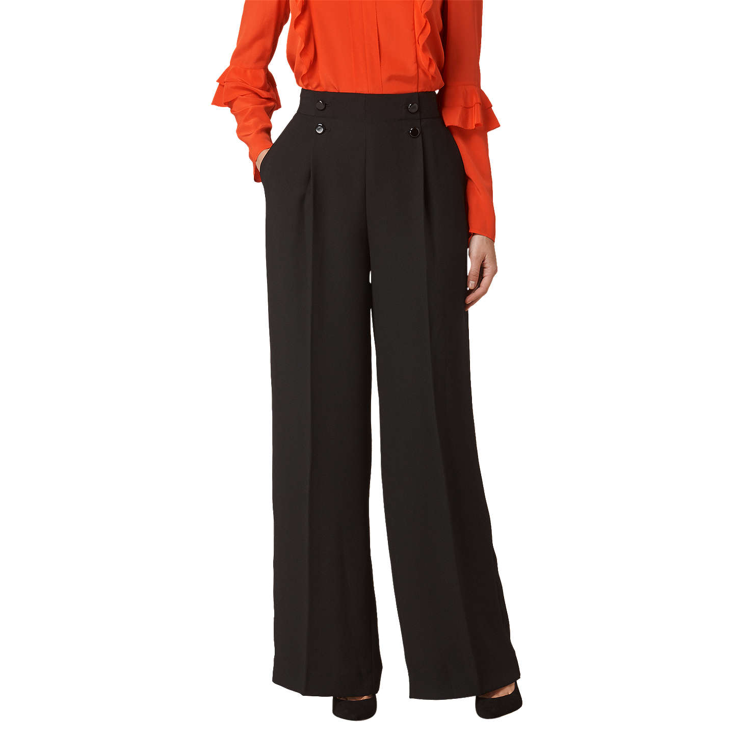 BuyL.K.Bennett Ollie Trousers, Black, 6 Online at johnlewis.com