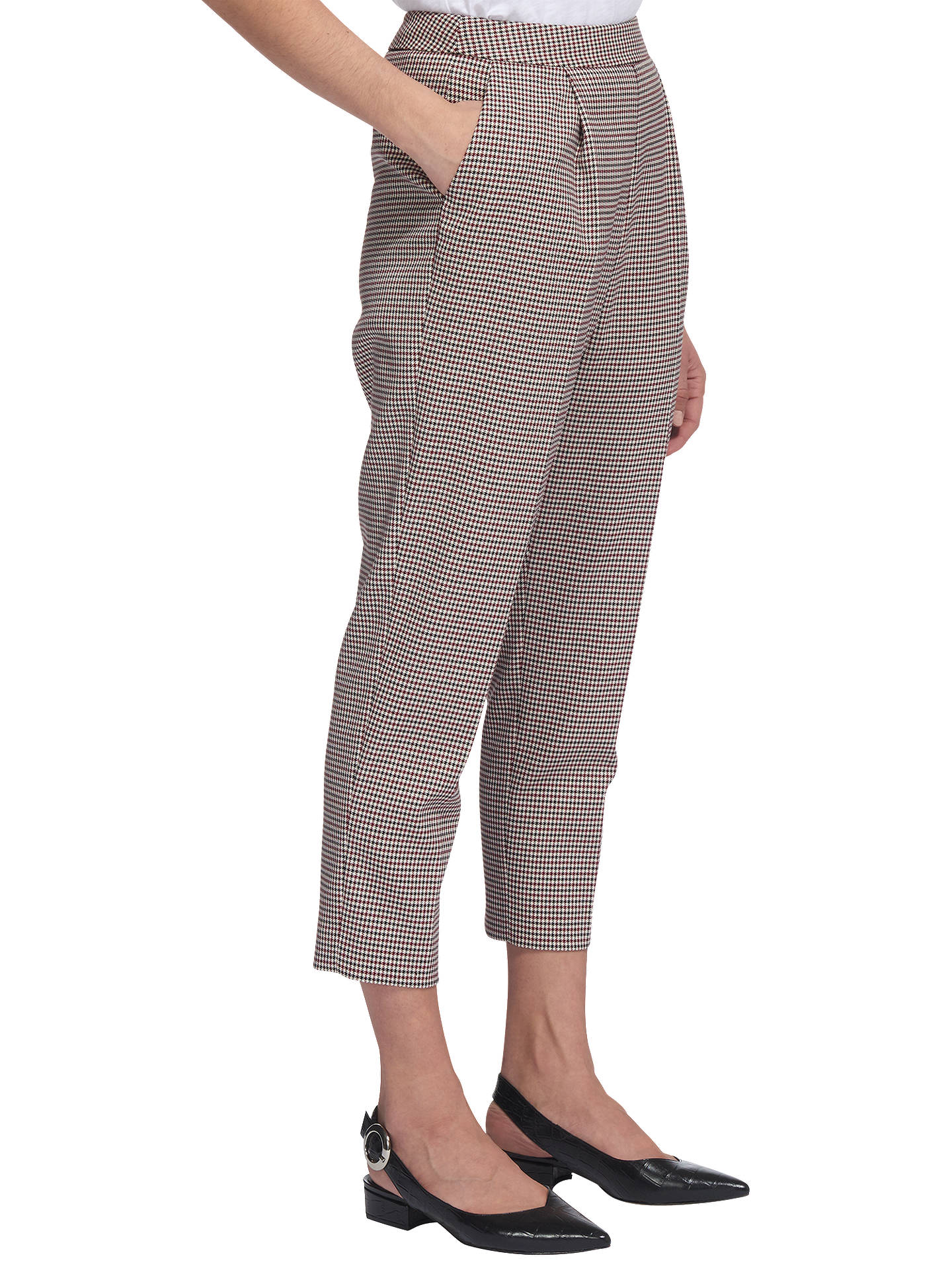 BuyWhistles Mini Check Cropped Trousers, Multi, 6 Online at johnlewis.com