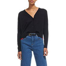 Buy Whistles Short Tipped Cardigan, Navy Online at johnlewis.com