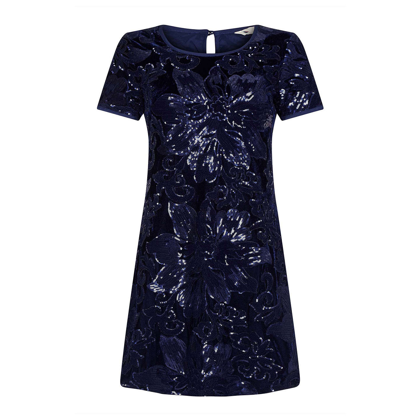 BuyYumi Sequin Tunic Dress, Navy, 8 Online at johnlewis.com