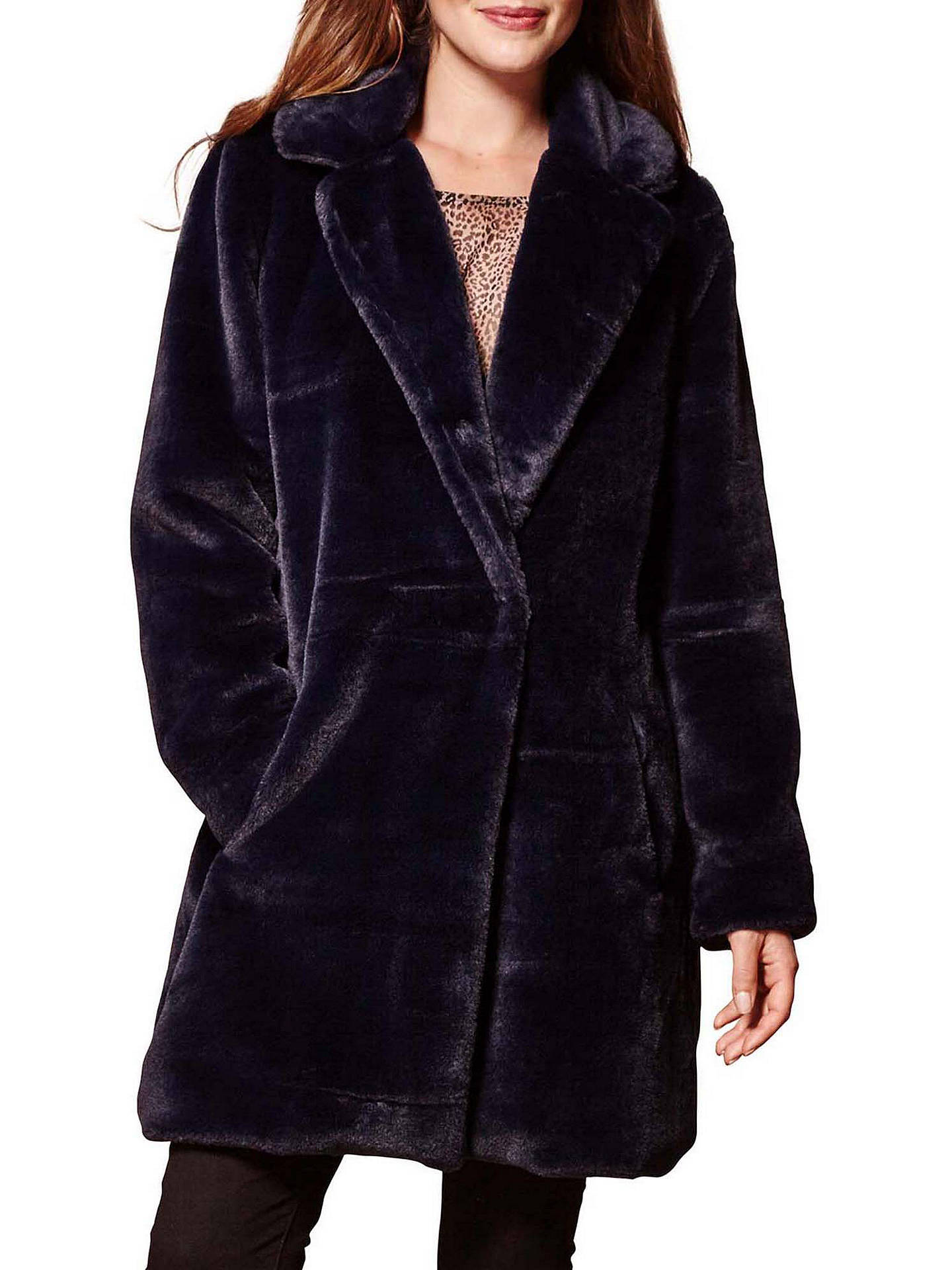 54c2846f1a63c Buy Yumi Oversized Faux Fur Coat