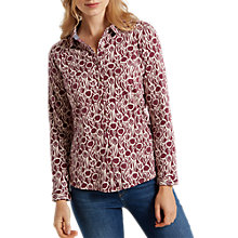 Buy White Stuff Tuki May Jersey Shirt, Rose Brown Print Online at johnlewis.com