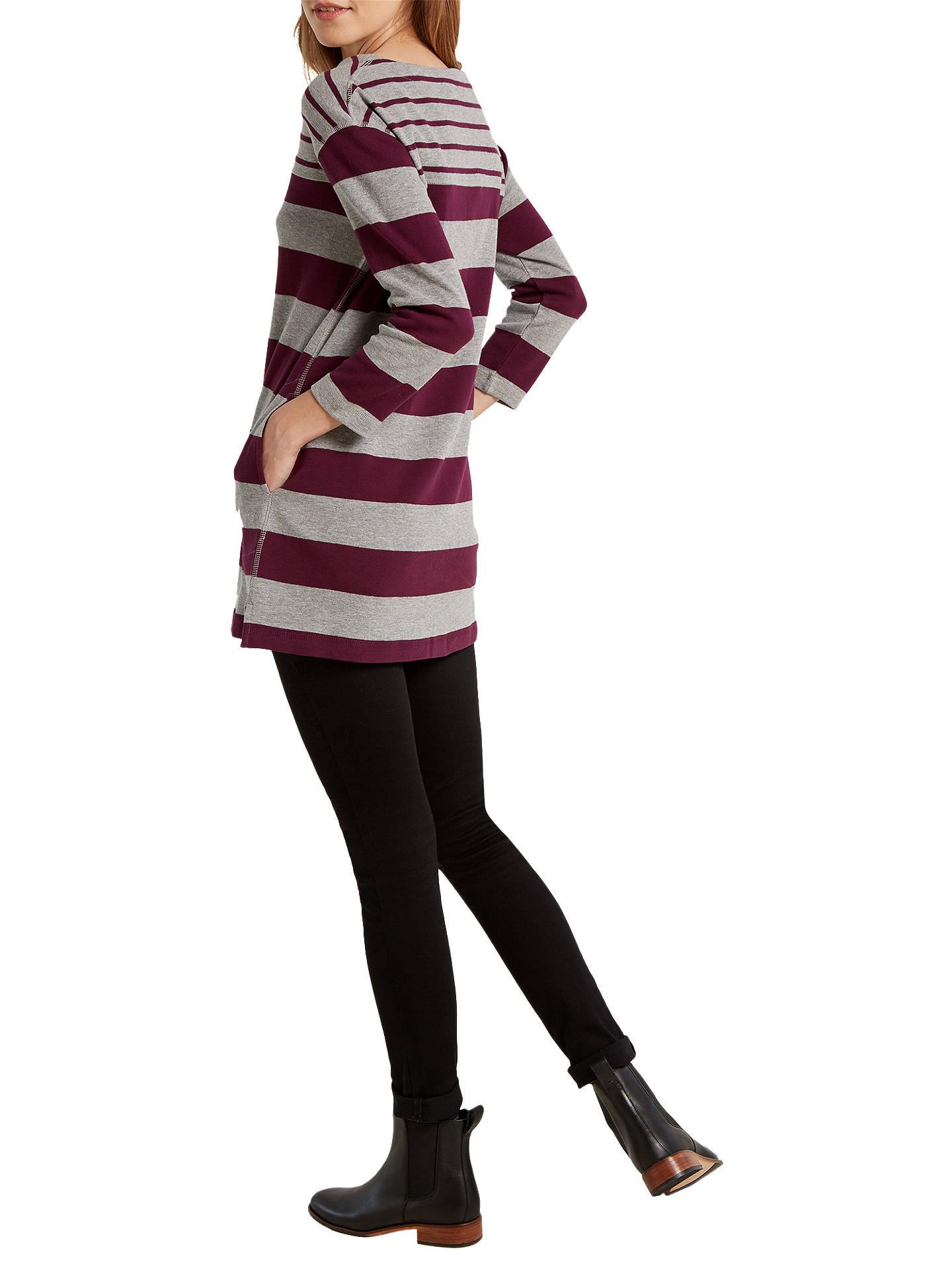 62c82761089 Buy White Stuff Mixed Stripe Jersey Tunic Dress, Purple, 6 Online at  johnlewis.