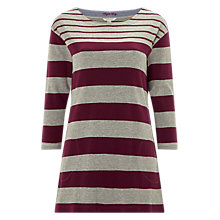 Buy White Stuff Mixed Stripe Jersey Tunic Dress, Purple Online at johnlewis.com