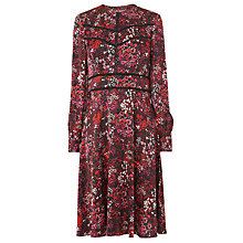 Buy L.K. Bennett Robyn Floral Dress, Pink/Red Online at johnlewis.com