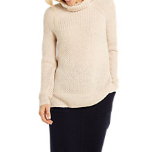 Buy White Stuff Highland Cowl Neck Jumper, Cream Online at johnlewis.com