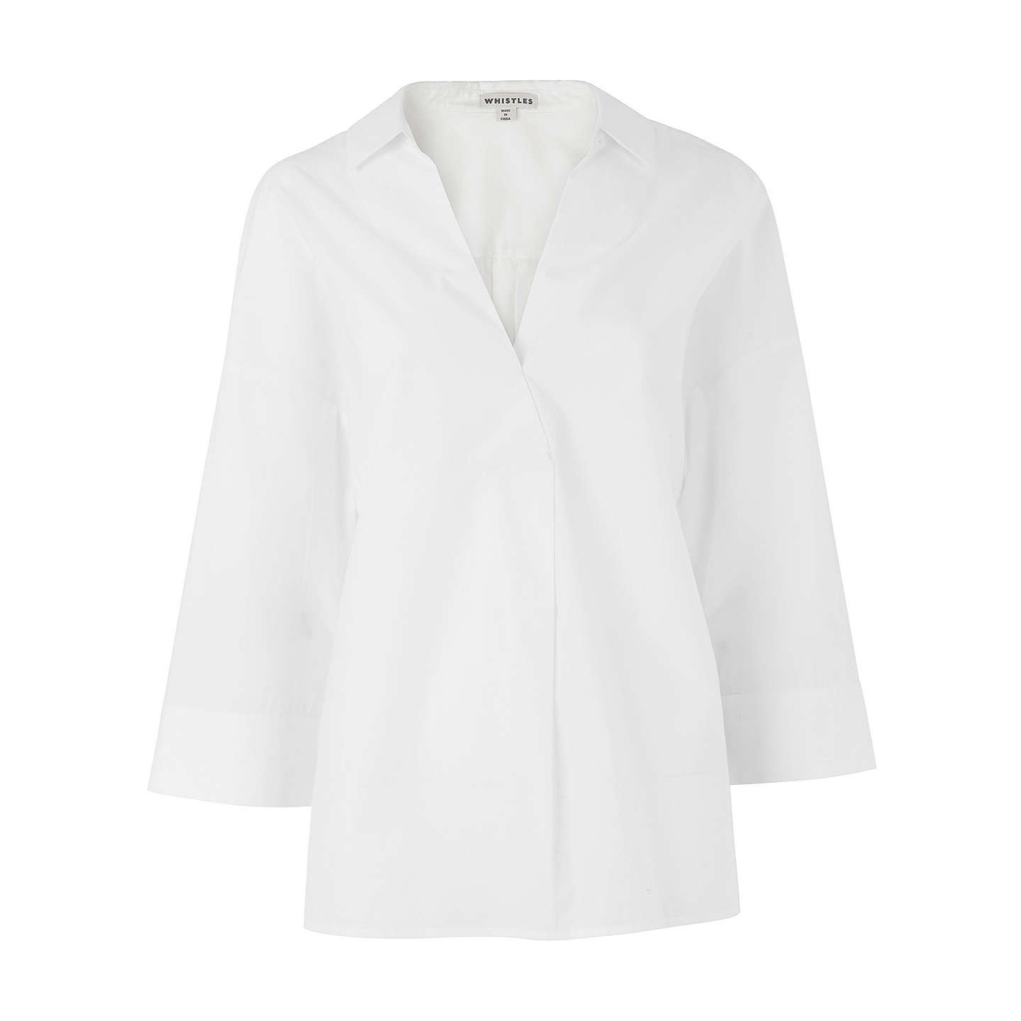 BuyWhistles Lola Shirt, White, XS Online at johnlewis.com