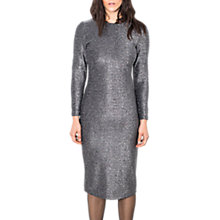 Buy Wild Pony Long Sleeve Sparkle Dress, Silver Online at johnlewis.com