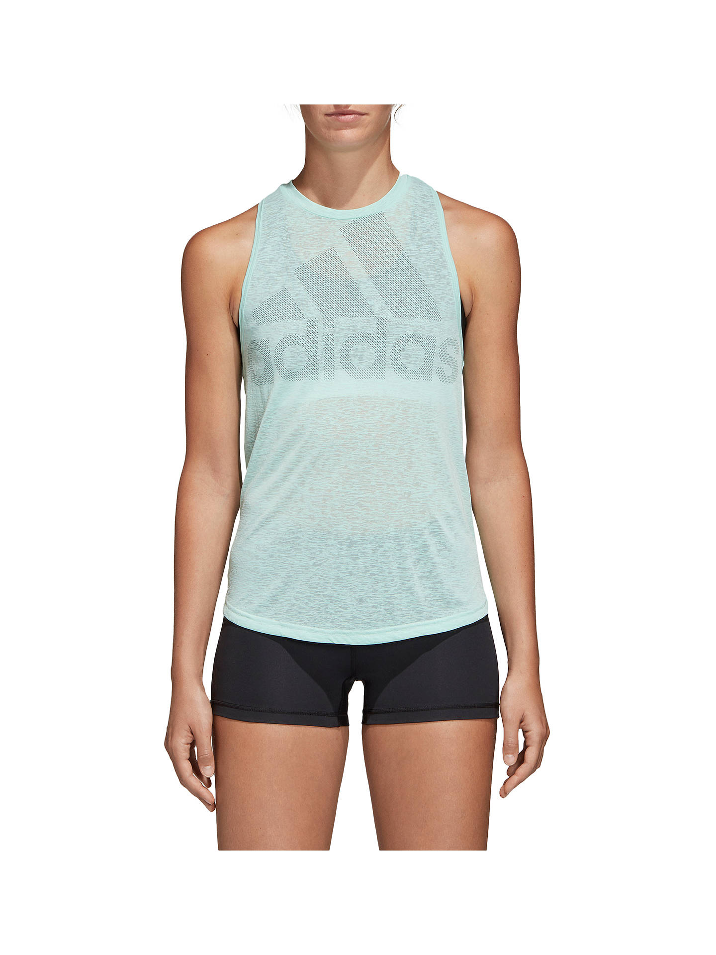 Buyadidas Magic Logo Tank Training Top, Clear Mint, XS Online at johnlewis.com