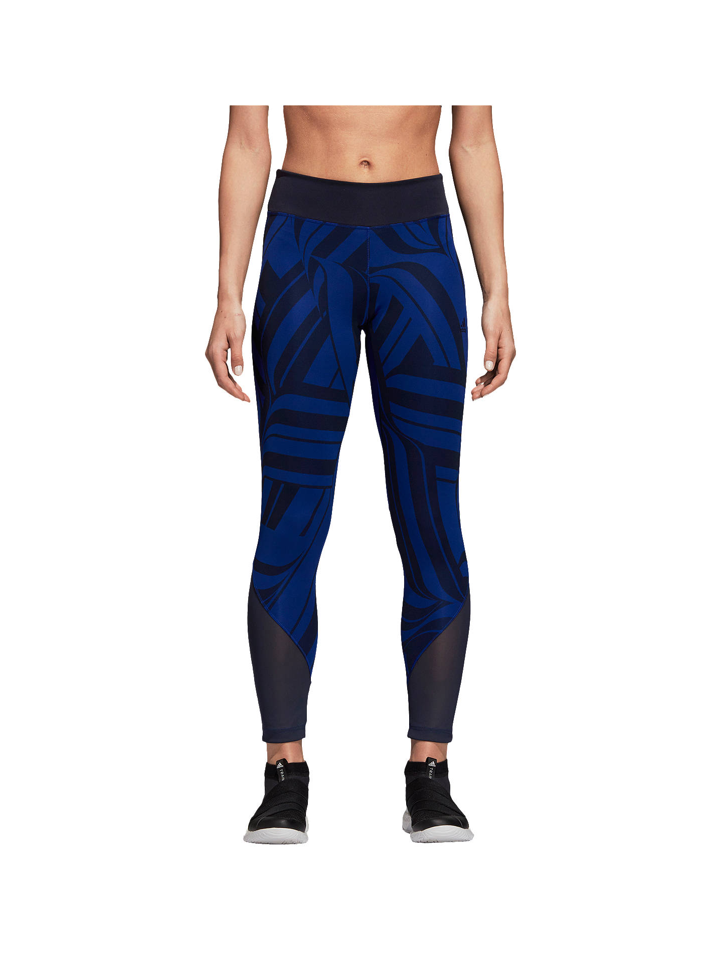 Buyadidas D2M Training Tights, Black/Blue, XS Online at johnlewis.com