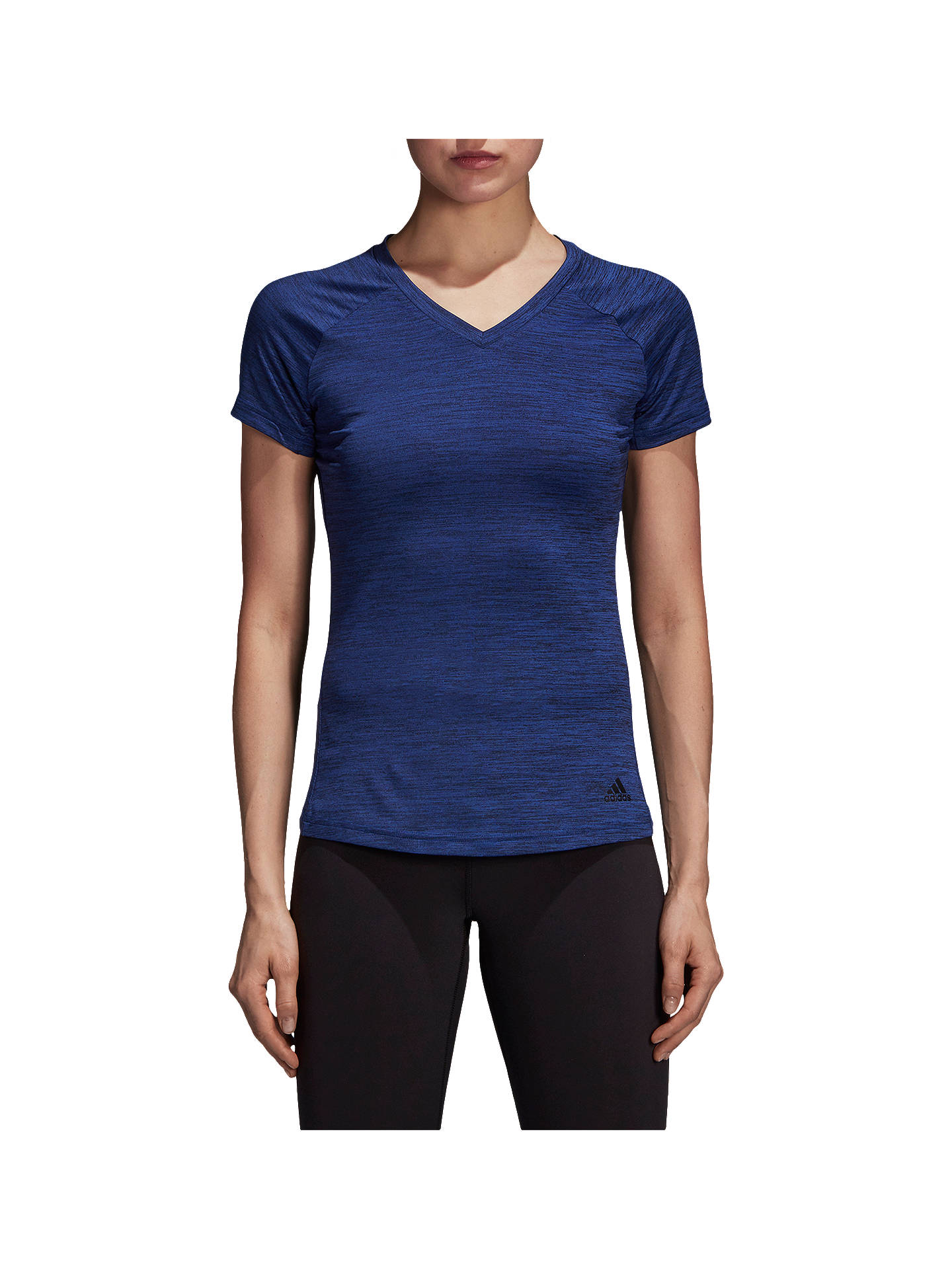 Buyadidas Freelift T-Shirt, Coloured Heather/Mystery Ink, XS Online at johnlewis.com