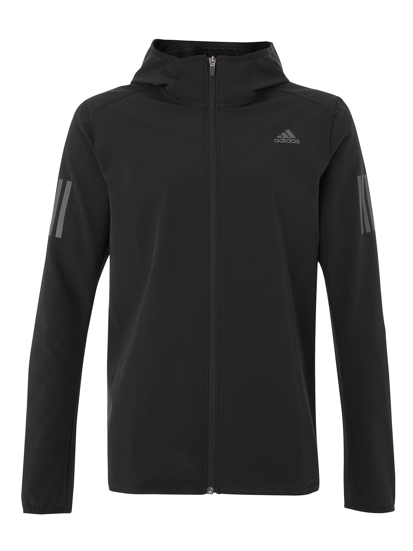 2fdc71795 ... Buy adidas Response Men's Running Jacket, Black, S Online at johnlewis.  ...