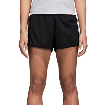 adidas 3 Stripe Running Shorts, Black