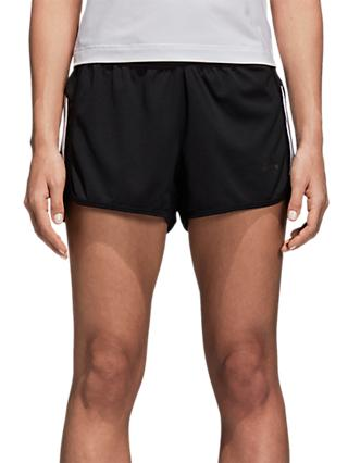 adidas 3 Stripe Running Shorts, Black