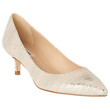 Buy L.K.Bennett Audrey Pointed Toe Court Shoes, Soft Gold Leather Online at johnlewis.com