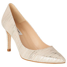 Buy L.K. Bennett Floret Stiletto Heeled Court Shoes, Soft Gold Leather Online at johnlewis.com