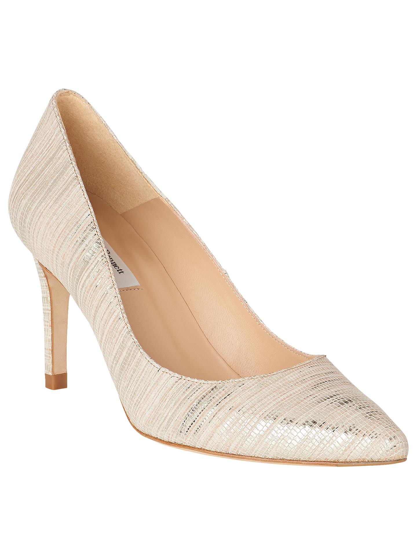 Soft Bennett Shoes Gold Court Leather Floret K 2 Stiletto Heeled 4X1dFn