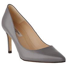 Buy L.K. Bennett Floret Pointed Court Shoes, Warm Grey Leather Online at johnlewis.com
