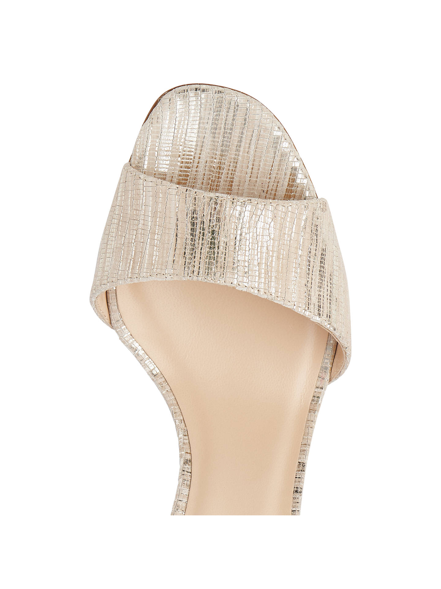 BuyL.K.Bennett Helena Block Heeled Sandals, Gold Leather, 2 Online at johnlewis.com