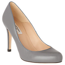 Buy L.K. Bennett Stila Leather Court Shoes, Grey Leather Online at johnlewis.com