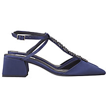 Buy Finery Eider T-Bar Court Shoes, Navy Online at johnlewis.com