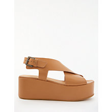 Buy Modern Rarity Kara Flatform Sandals, Tan Online at johnlewis.com