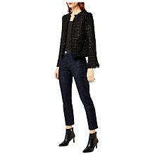 Buy Warehouse Sparkle Tweed Jacket, Black Online at johnlewis.com