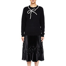 Buy Ted Baker Nardea Embellished Bow Jumper, Black Online at johnlewis.com