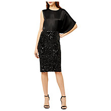 Buy Warehouse Velvet Sequin Midi Skirt, Black Online at johnlewis.com