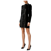 Buy Warehouse Velvet Dress, Black Online at johnlewis.com