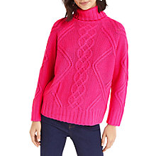 Buy Oasis Fair Isle Chunky Jumper, Bright Pink Online at johnlewis.com