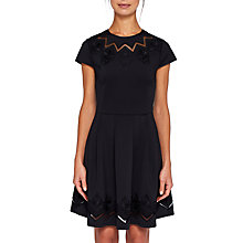 Buy Ted Baker Cheskka Lace and Mesh Detail Skater Dress Online at johnlewis.com