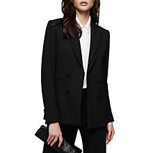 Buy Reiss Ethie Double Breasted Blazer, Black Online at johnlewis.com