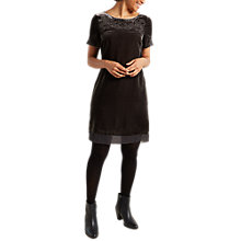 Buy White Stuff Empress Embroidered Dress, Grey Online at johnlewis.com