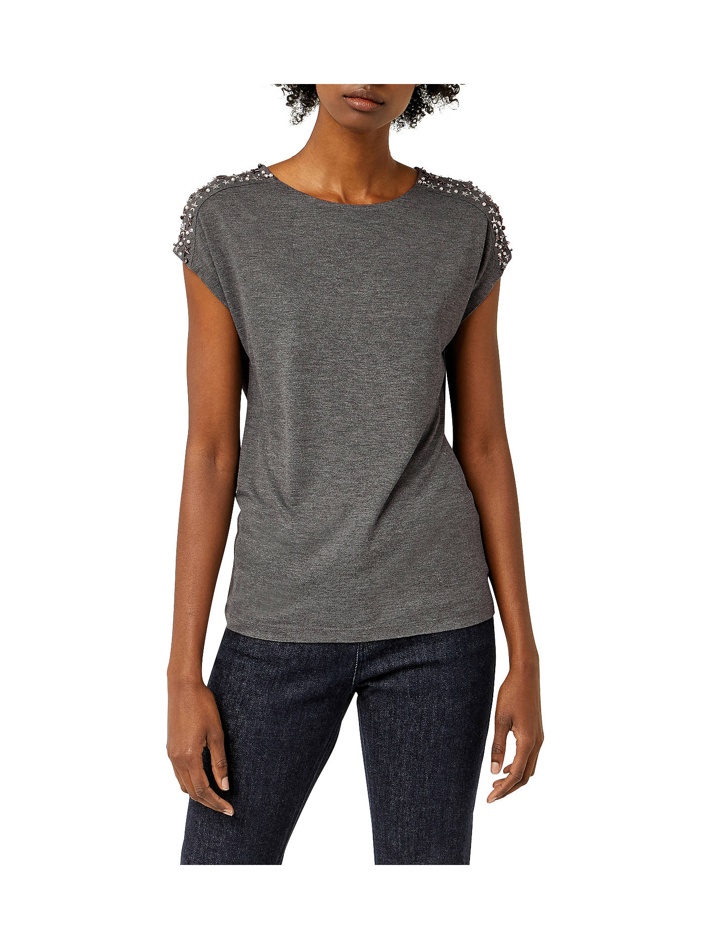 Warehouse Womens Embellished Shoulder Top