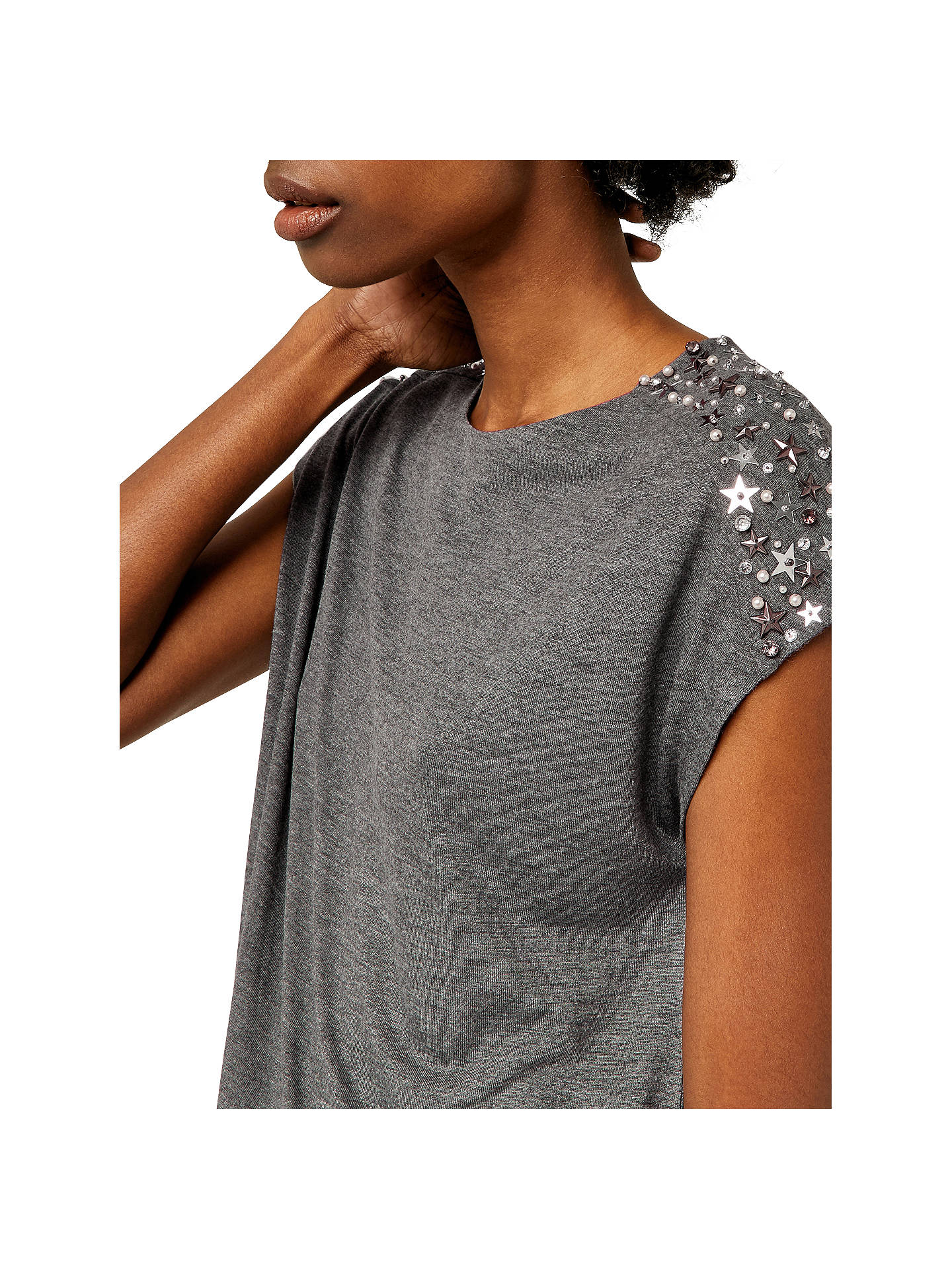 ad76343023bae ... Buy Warehouse Star Embellished Shoulder T-Shirt