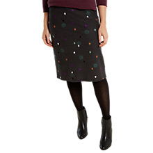 Buy White Stuff Rye Spot Denim Jersey Skirt, Charcoal Online at johnlewis.com