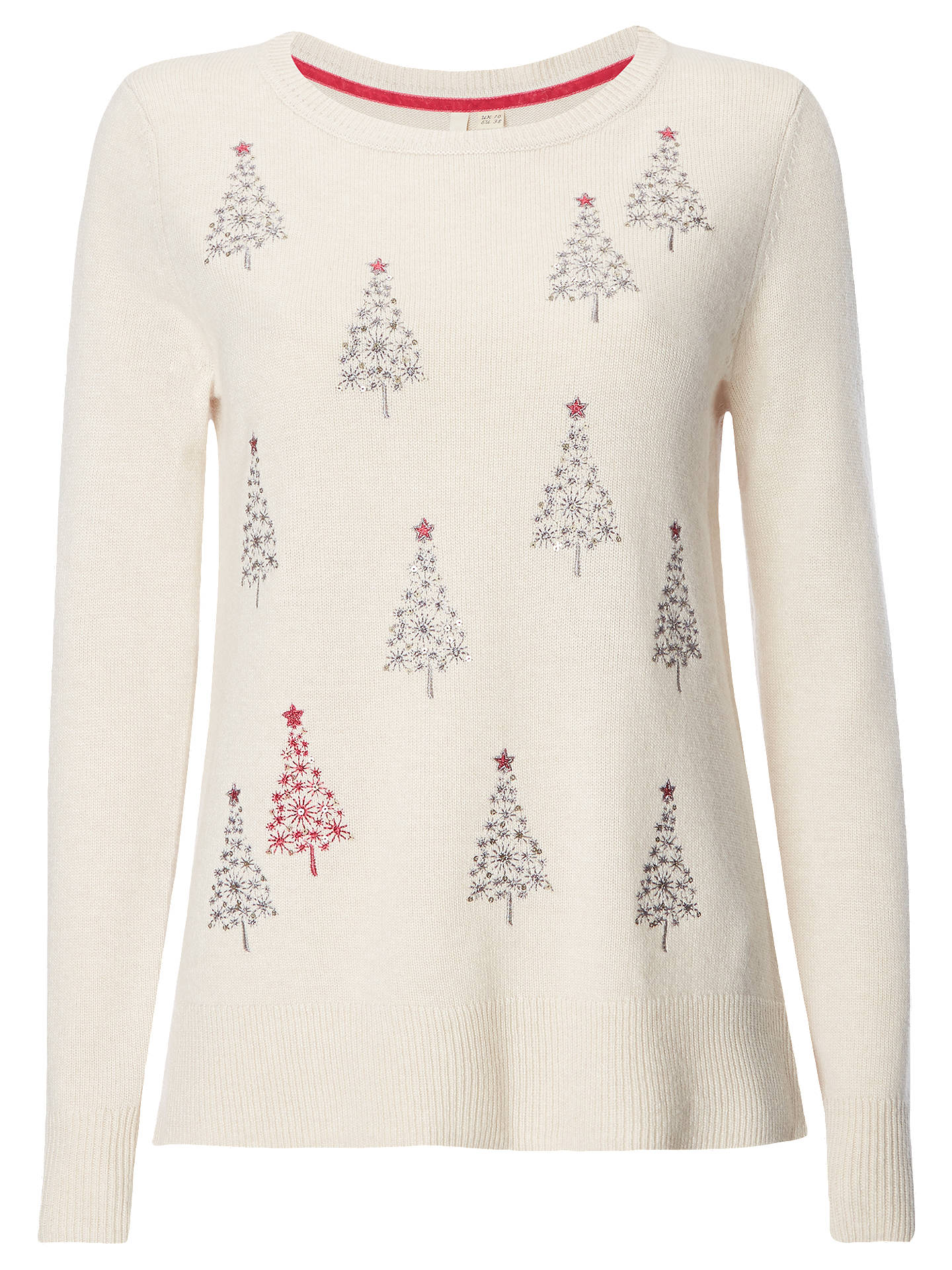 BuyWhite Stuff Xmas Tree Christmas Jumper, Oatmeal, 6 Online at johnlewis.com