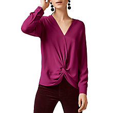 Buy Warehouse Knot Long Sleeve Top Online at johnlewis.com