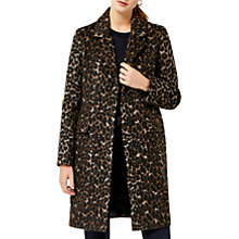 Buy Warehouse Animal Print Coat, Multi Online at johnlewis.com