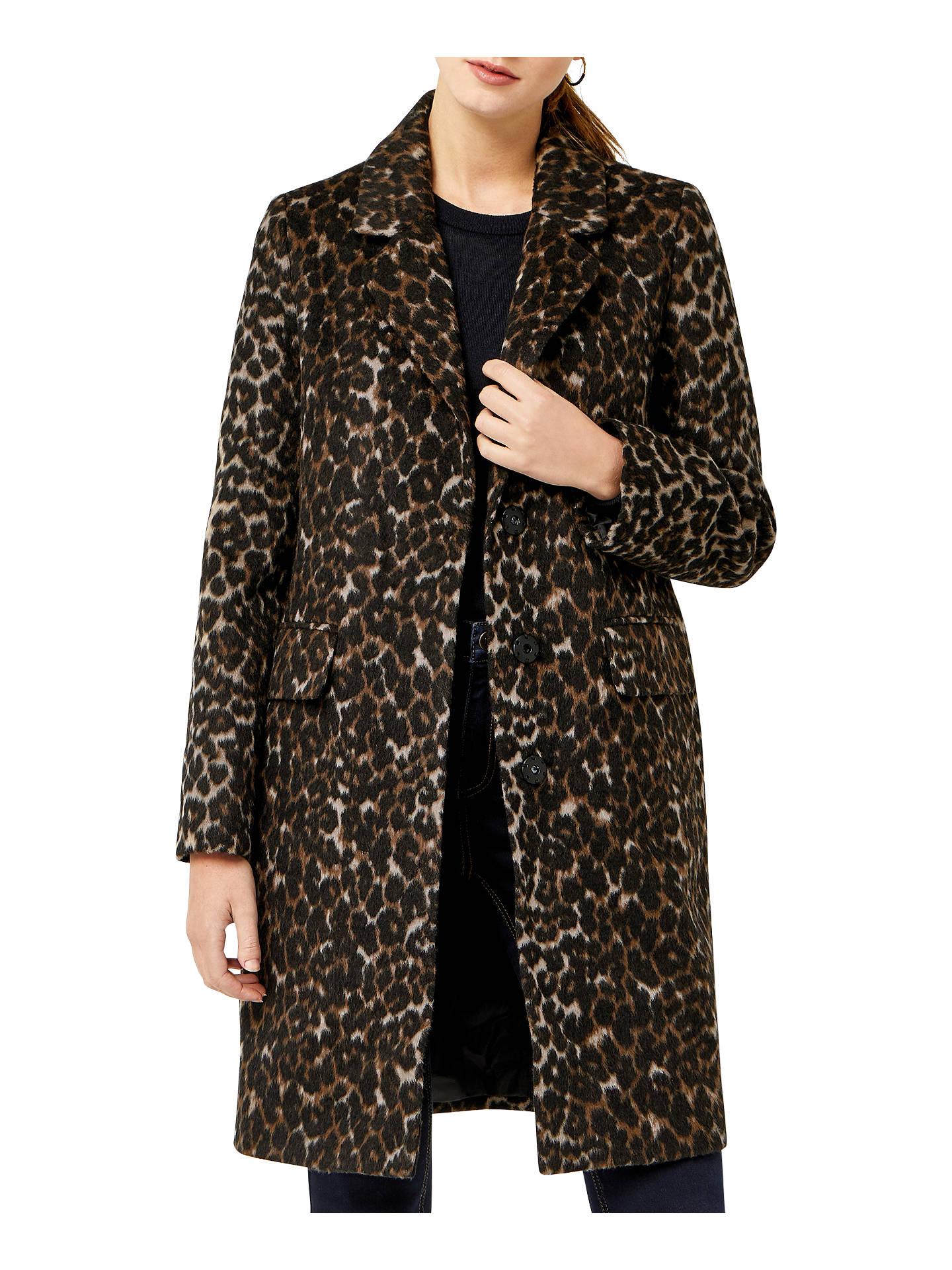 0478b0258d4e Buy Warehouse Animal Print Coat, Multi, 6 Online at johnlewis.com ...