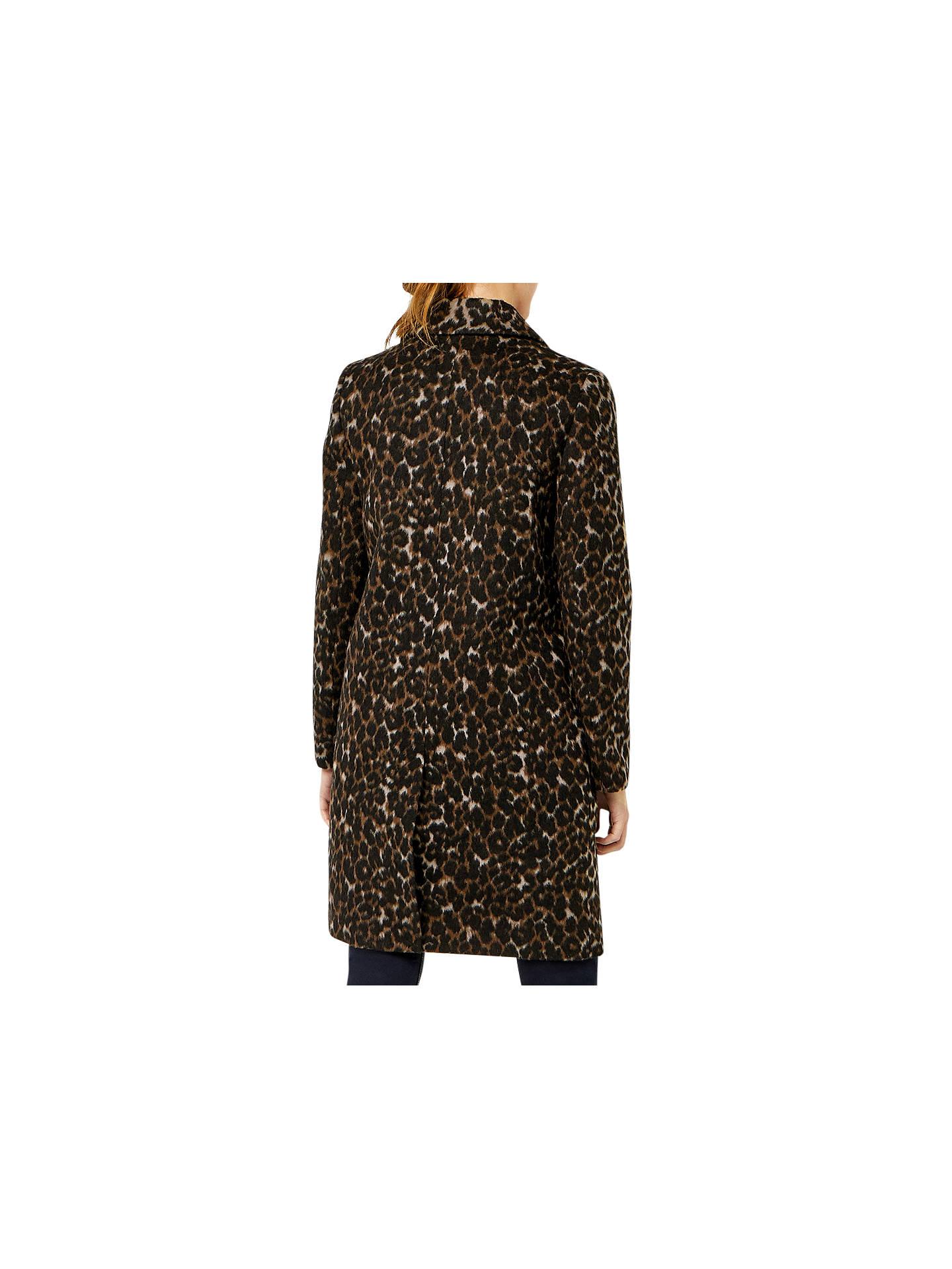 da95ce28f114 ... Buy Warehouse Animal Print Coat, Multi, 6 Online at johnlewis.com ...