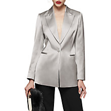 Buy Reiss Teya Satin Jacket, Flint Grey Online at johnlewis.com