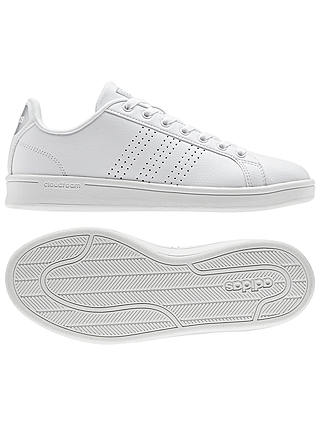 Buy adidas Neo Cloudfoam Advantage Women's Trainers, White, 4 Online at johnlewis.com
